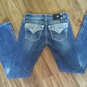 Miss Me size 26 boot cut jeans. Inseam 34
